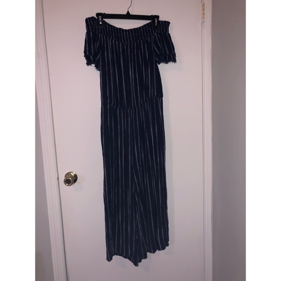 Xhilaration Other - Blue and White Striped Jumpsuit